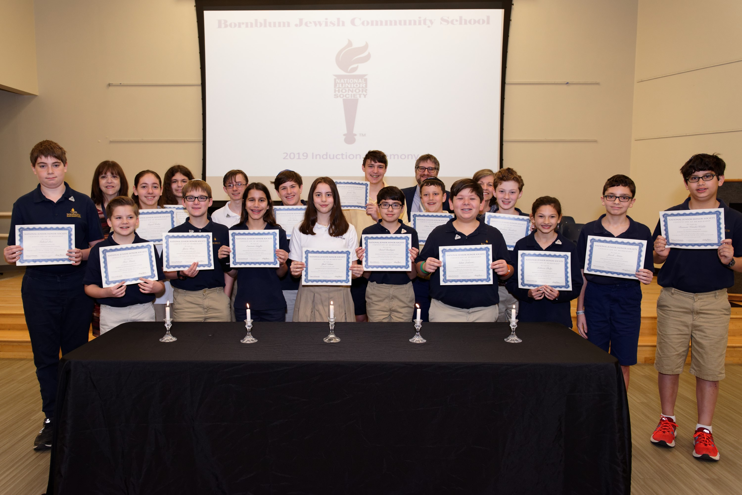 Seventeen Bornblum Students Inducted into National Junior Honor Society
