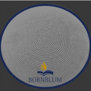 Bornblum Kippah Knit Gray